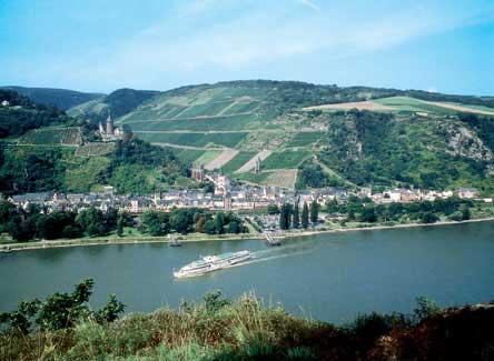 Blick auf Bacharach am Rhein